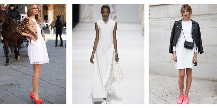 Как правильно носить белое платье осенью, чтобы выглядеть по-королевски роскошно