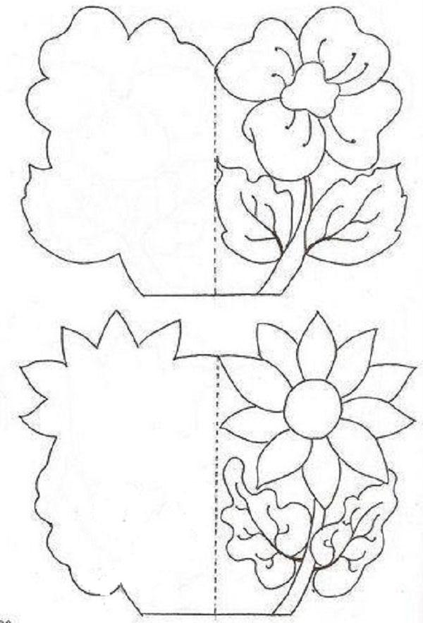 Как сделать открытку из бумаги своими руками схемы шаблоны
