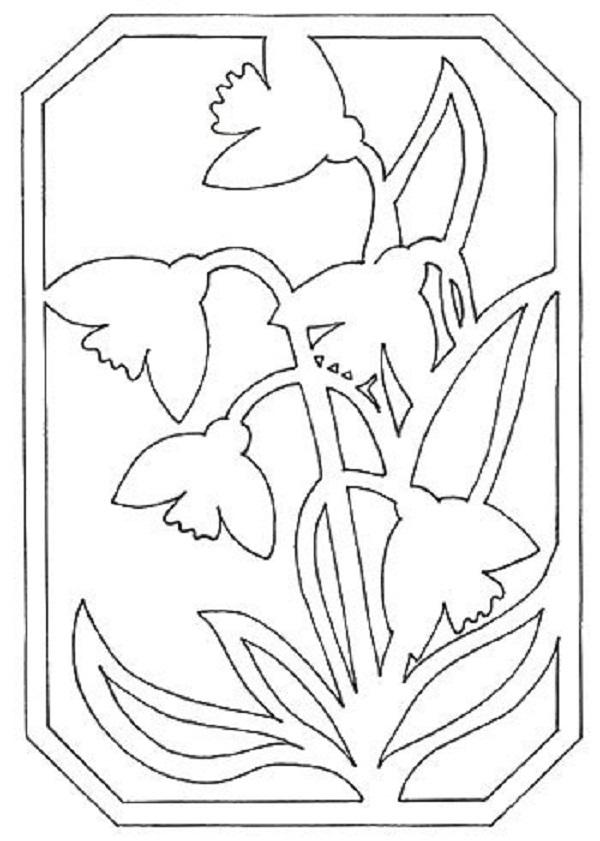 помешает открытки вырезанные из бумаги цветы и шаблоны к ним сложный многогранный