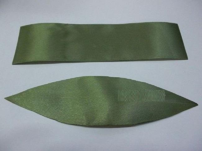 листок из ленты своими руками пошаговое фото изображения картинки