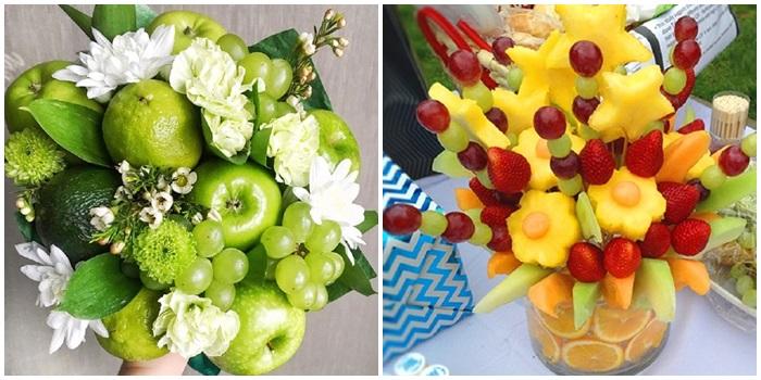 Букеты из фруктов своими руками: пошаговые фото для начинающих и продв