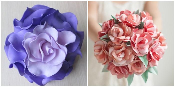 Розы своими руками из бумаги, фоамирана, органзы и атласных лент: поша