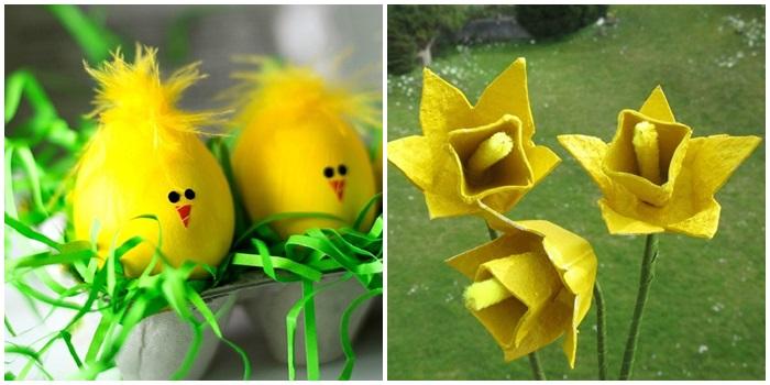 Поделки для детей из яиц, яичной скорлупы и лотков на Пасху