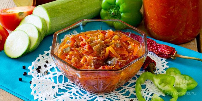 Аджика из кабачков на зиму: рецепты пальчики оближешь с томатной пасто